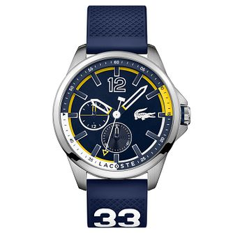 Lacoste Men's Blue Silicon Strap Watch - Product number 6412548