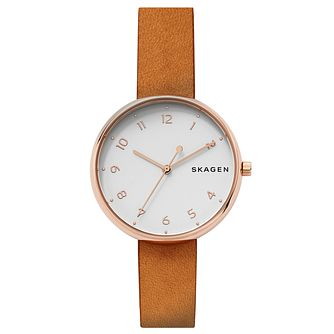Skagen Ladies' Rose Gold Tone Strap Watch - Product number 6412637