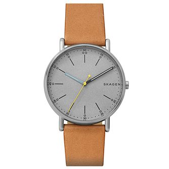 Skagen Signatur Men's Tan Leather Strap Watch - Product number 6412696