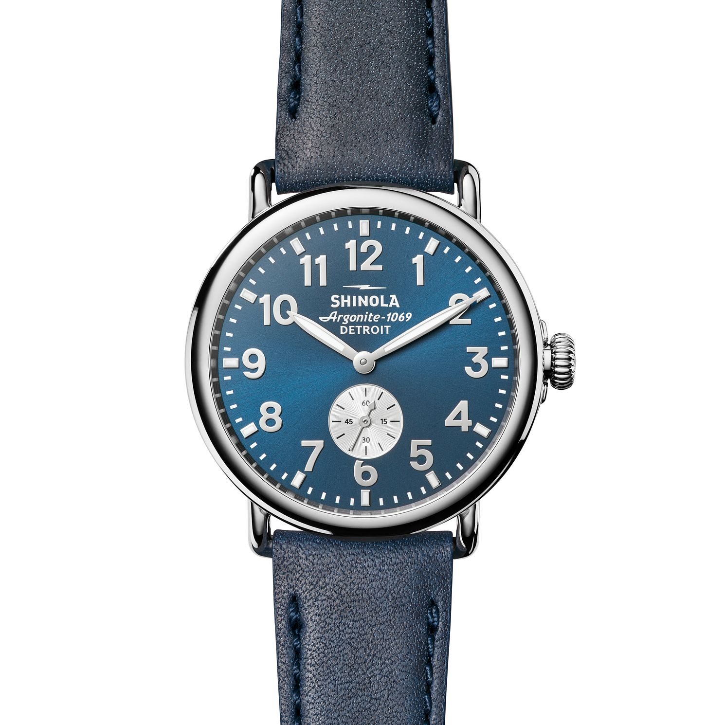 Shinola Runwell 41 Men's Blue Stainless Steel Strap Watch - Product number 6413420