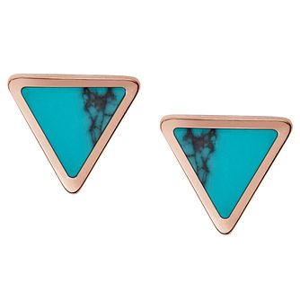 Fossil Rose Gold Tone Stud Earrings - Product number 6415059