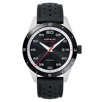 Montblanc Timewalker Men's Black Leather Strap Watch - Product number 6415598