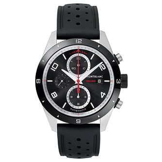 Montblanc Timewalker Men's Black Rubber Strap Watch - Product number 6415601