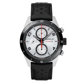 Montblanc Timewalker Men's Black Leather Strap Watch - Product number 6415636