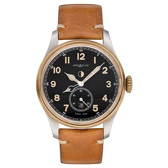 Montblanc 1858 Automatic Men's Tan Leather Strap Watch - Product number 6415660