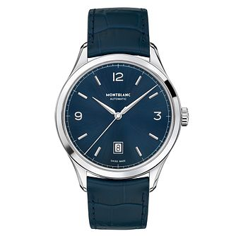 Montblanc Heritage Chronométrie Men's Blue Strap Watch - Product number 6415679