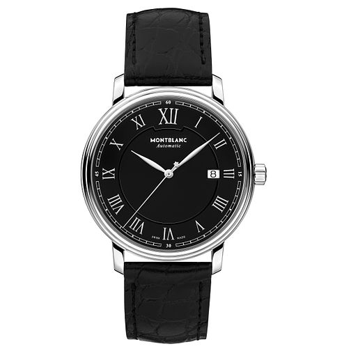 Montblanc Tradition Men's Black Leather Strap Watch - Product number 6415687