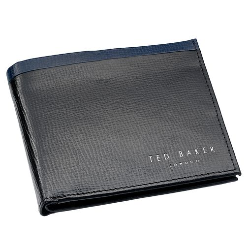 Ted Baker Men's Black and Blue Leather Wallet - Product number 6415814