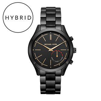 a63ec39bbe57 Michael Kors Access Slim Runway Black Tone Hybrid Smartwatch - Product  number 6417167