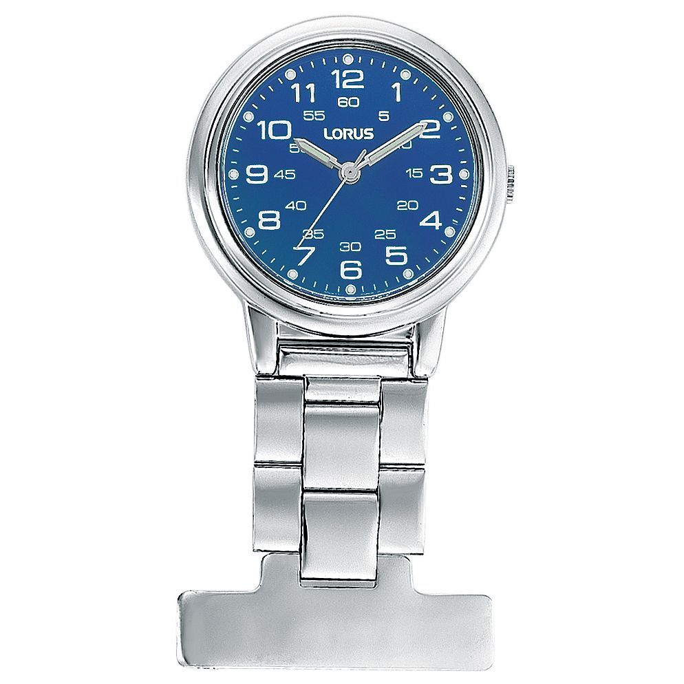 Lorus Stainless Steel Blue Dial Fob Watch - Product number 6419259