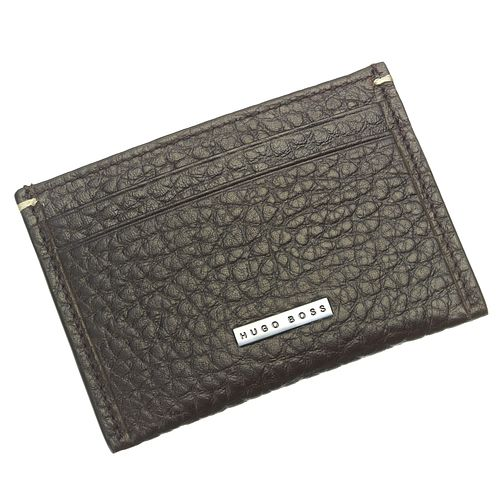 BOSS Varen Men's Brown Leather Card Holder - Product number 6420362
