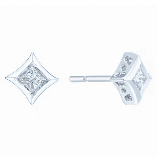 9ct White Gold 1/5ct Diamond Earrings - Product number 6420516