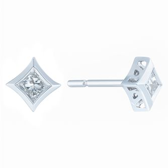 9ct White Gold 0.15ct Diamond Earrings - Product number 6420524