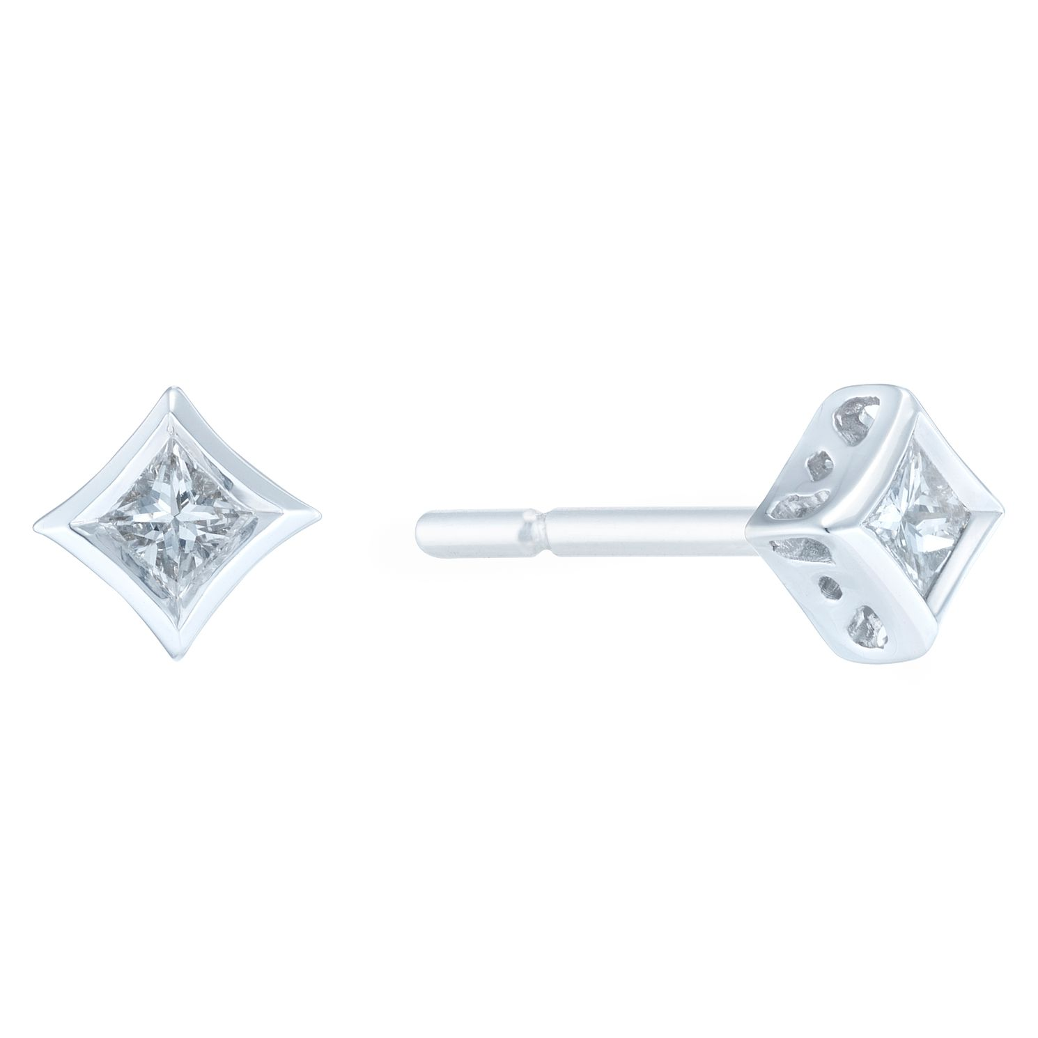 9ct White Gold 1/10ct Diamond Earrings - Product number 6420532