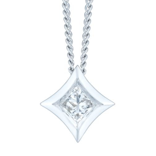 9ct White Gold 1/10ct Pendant - Product number 6420710