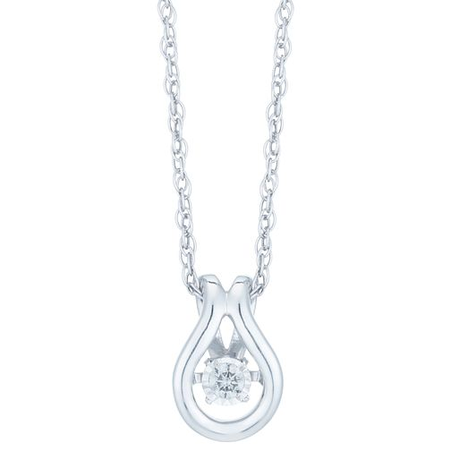 Diamonds in Rhythm Sterling Silver Diamond Pendant - Product number 6420745