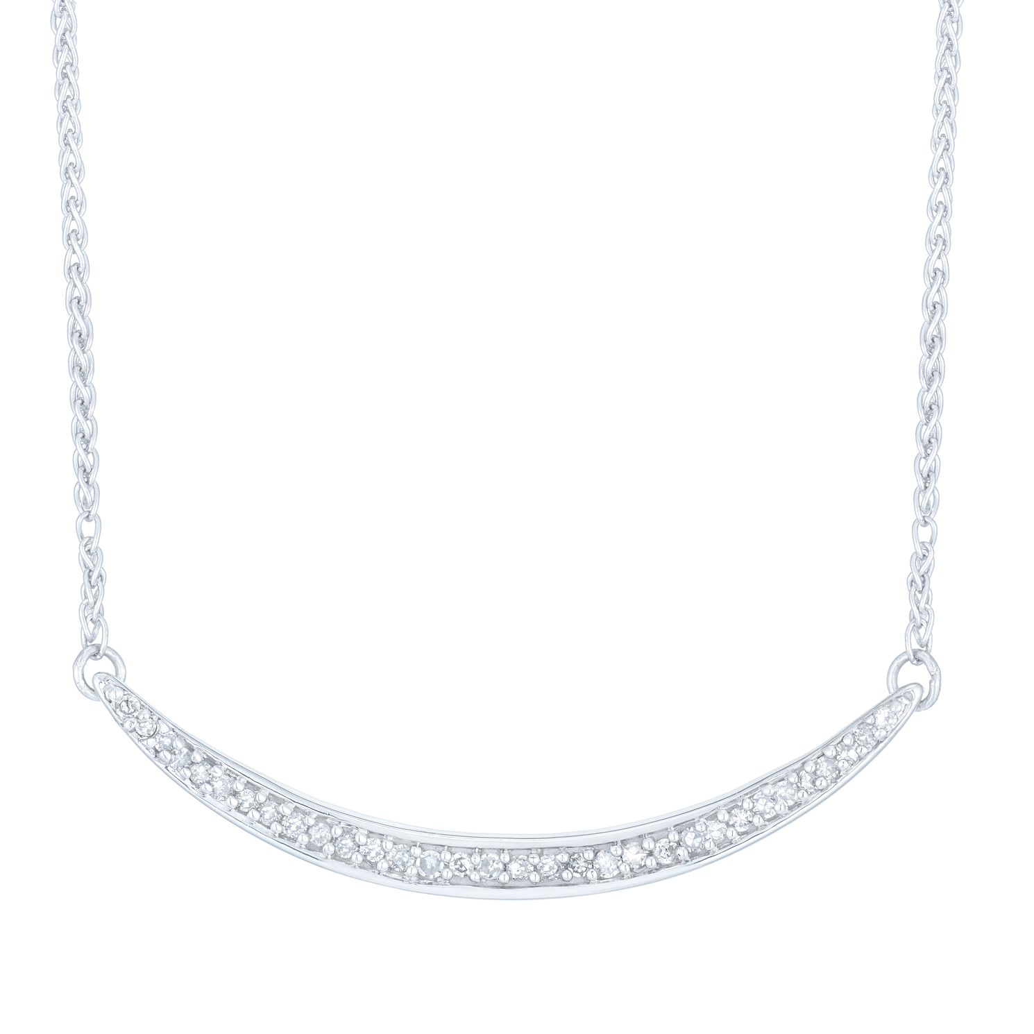 Sterling Silver 0.12ct Diamond Collar - Product number 6420885