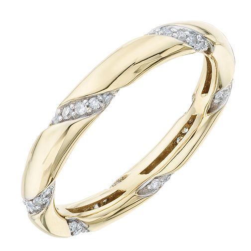 9ct Yellow Gold 1/5ct Diamond Ring - Product number 6421288