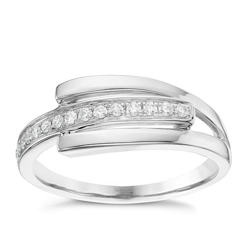 9ct White Gold 0.15ct Diamond Ring - Product number 6422055