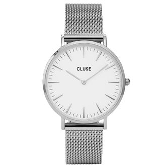 Cluse Ladies' La Bohème Silver Mesh Bracelet Watch - Product number 6426948