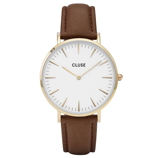 Cluse Ladies' La Bohème Dark Brown Leather Strap Watch - Product number 6427049