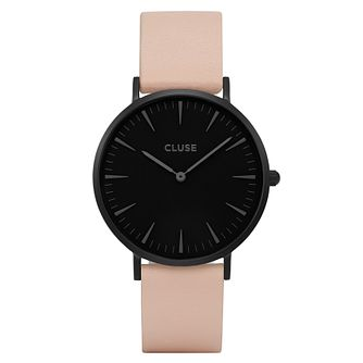Cluse Ladies' La Bohème Nude Leather Strap Watch - Product number 6427073