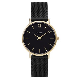 Cluse Ladies' Minuit Black Mesh Bracelet Watch - Product number 6427235