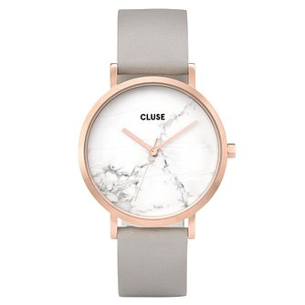 Cluse Ladies' La Roche Grey Leather Strap Watch - Product number 6427278