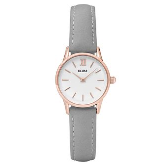 Cluse Ladies' La Vedette Grey Leather Strap Watch - Product number 6427308
