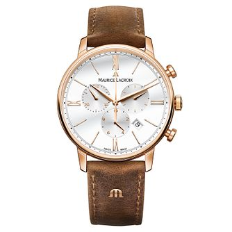 Maurice Lacroix Eliros Men's Rose Gold Plated Strap Watch - Product number 6431887
