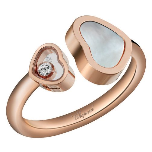 Chopard Happy Hearts 18ct Rose Gold Open Ring - Product number 6432352