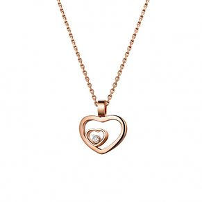 Chopard Happy Hearts 18ct Rose Gold Necklace - Product number 6432441
