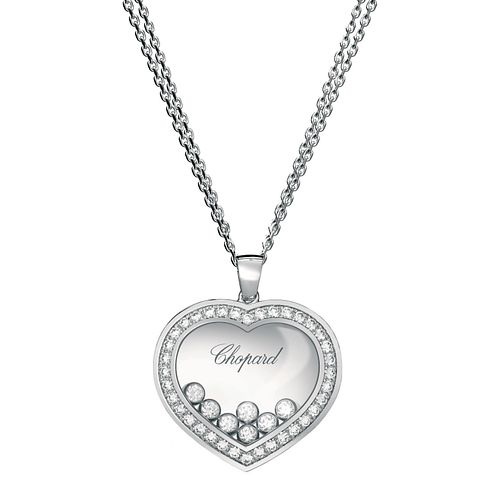 Chopard Happy Diamonds 18ct White Gold Diamond Pendant - Product number 6432484