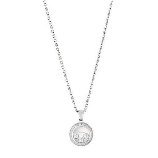 Chopard Happy Diamonds 18ct White Gold Diamond Pendant - Product number 6432492