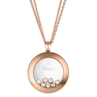 Chopard Happy Diamonds 18ct Rose Gold Diamond Pendant - Product number 6432506