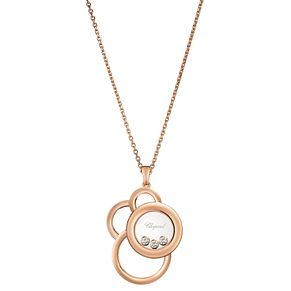 Chopard Happy Diamonds 18ct Rose Gold 0.28ct Diamond Pendant - Product number 6432522