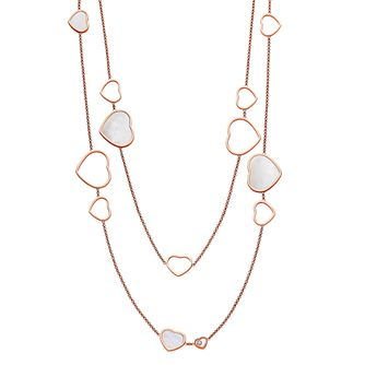 Chopard Happy Hearts 18ct Rose Gold 0.15ct Diamond Necklace - Product number 6432611