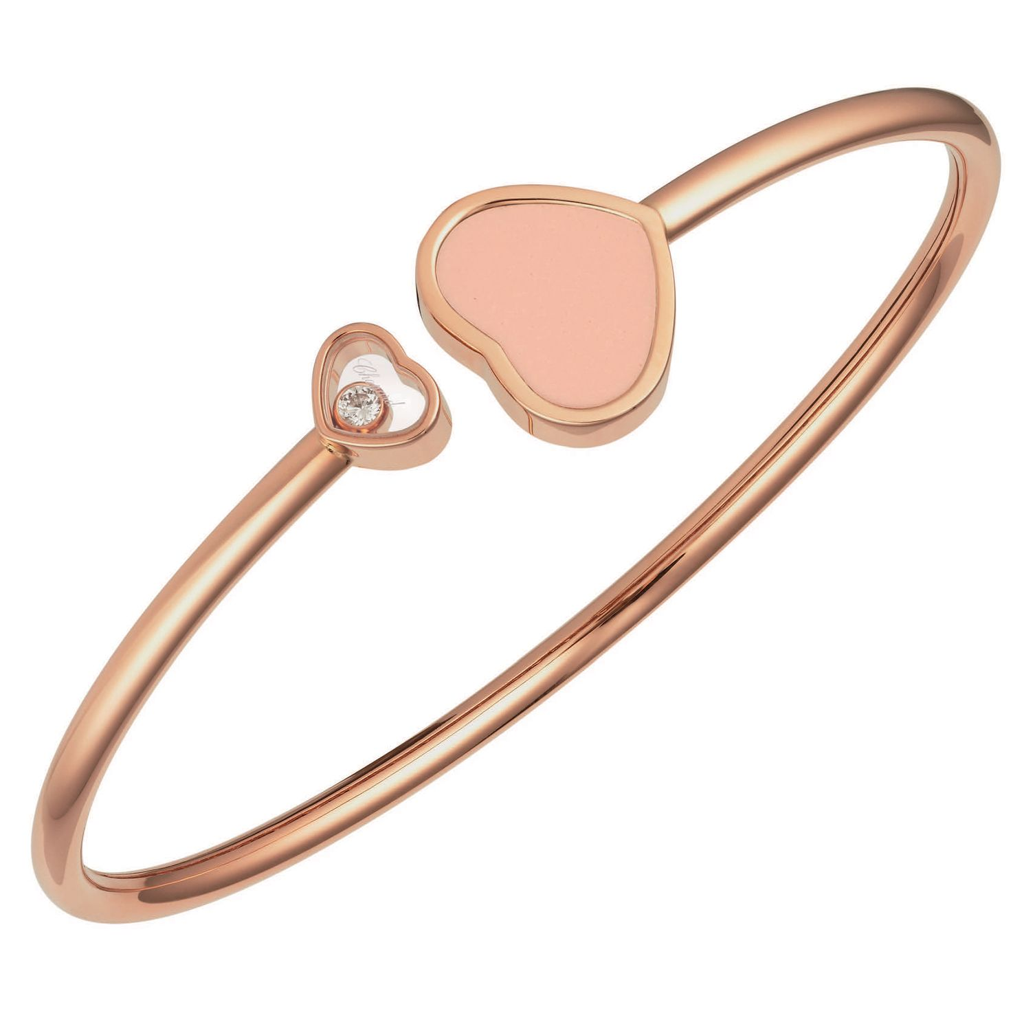 Chopard Happy Hearts 18ct Rose Gold Bangle Size S - Product number 6432832