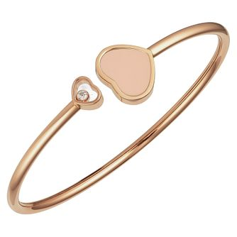 Chopard Happy Hearts 18ct Rose Gold Diamond Bangle Medium - Product number 6432840