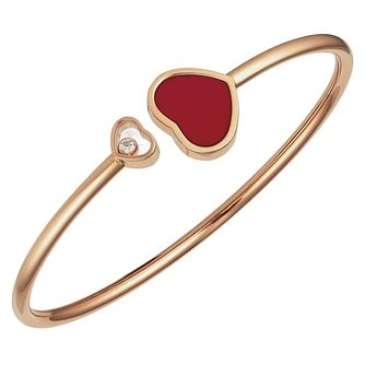 Chopard Happy Hearts 18ct Rose Gold Red Bangle Size M - Product number 6432859
