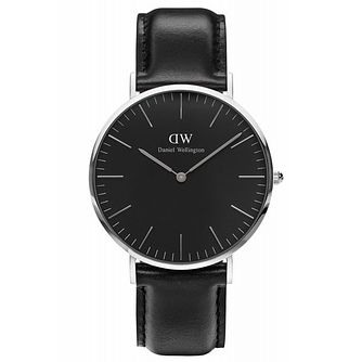 Daniel Wellington Sheffield Men's Black Leather Strap Watch - Product number 6433790