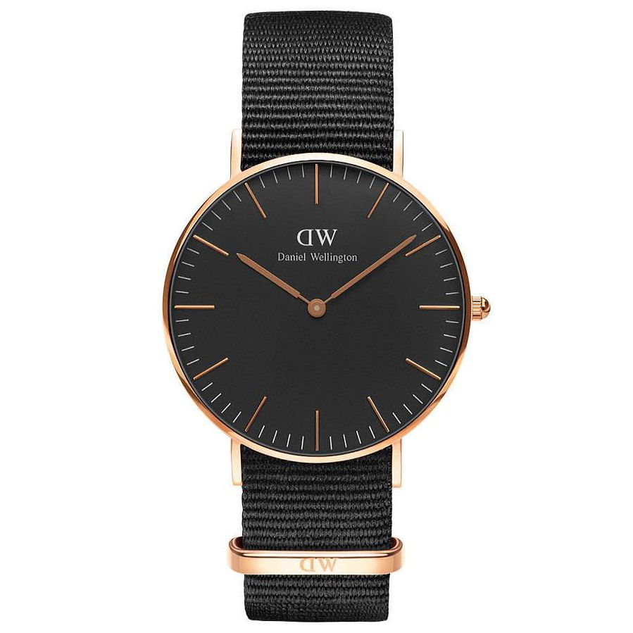 Daniel Wellington Cornwall Men's Black Canvas Strap Watch - Product number 6433812