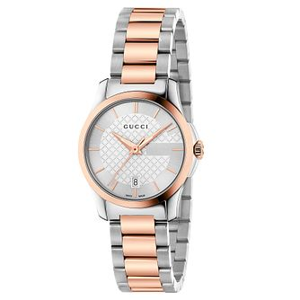 5f29eca6b3d8fd Gucci G-Timeless Two-Tone Bracelet Watch - Product number 6435459