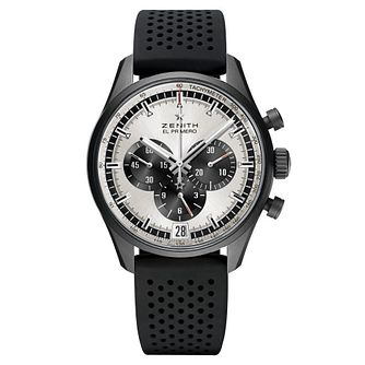 Zenith Chronomaster El Primero Black Rubber Strap Watch - Product number 6435629