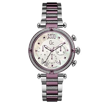 Gc CableChic Ladies' Two Tone Stainless Steel Bracelet Watch - Product number 6440266
