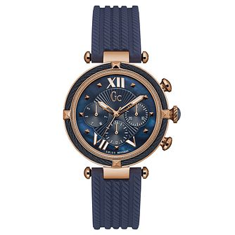 Gc CableChic Ladies' Blue Silicone Strap Watch - Product number 6440282