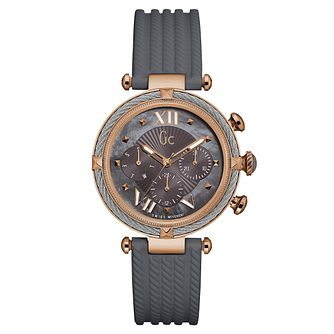 Gc CableChic Ladies' Grey Silicone Strap Watch - Product number 6440290