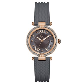 Gc CableChic Ladies' Grey Silicone Strap Watch - Product number 6440398