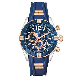 Gc SportRacer Men's Blue Silicone Strap Watch - Product number 6440606