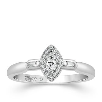 Emmy London 18ct White Gold 1/4 Carat Diamond Ring - Product number 6445187
